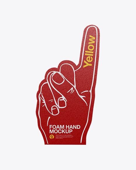 Foam Hand Mockup