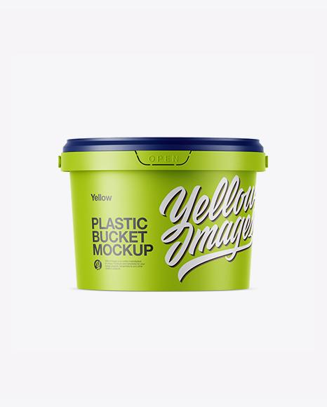 Download Matte Plastic Bucket Mockup Object Mockups
