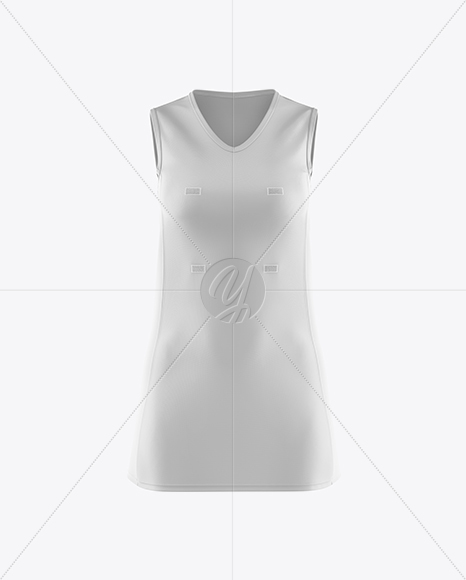 Netball Dress HQ Mockup - Front View