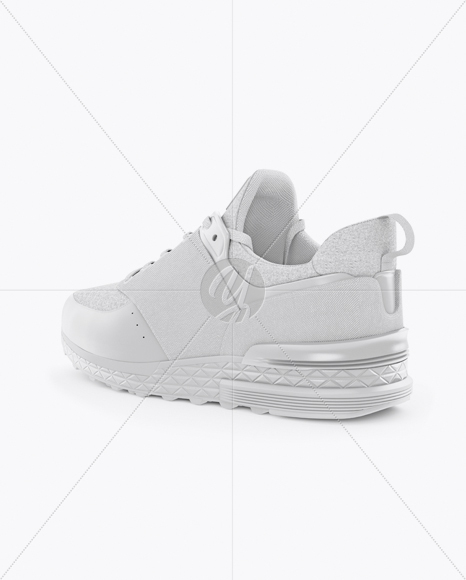 Sneaker Mockup - Back Half Side View