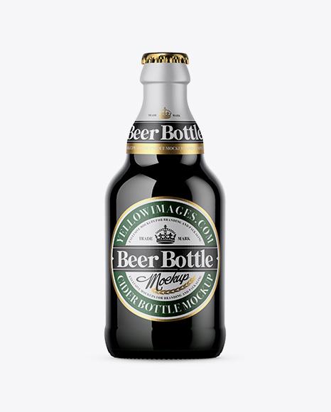 Download Free Green Beer Bottle Mockup PSD Template