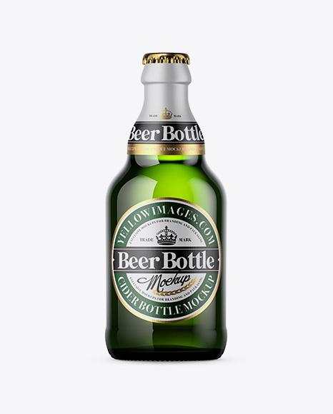 Download Dark Green Beer Bottle Mockup Object Mockups