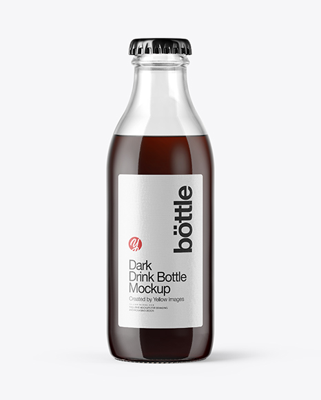 180ml Dark Drink Bottle Mockup