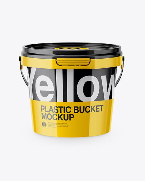 Download Glossy Plastic Bucket Mockup - High-Angle Shot Object Mockups