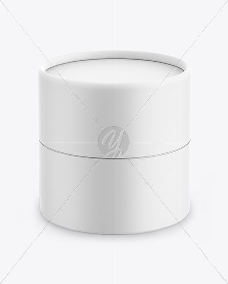 Download Matte Round Paper Box Mockup Front View High Angle Shot In Box Mockups On Yellow Images Object Mockups PSD Mockup Templates