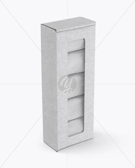 Kraft Paper Box With Socks Mockup - Half Side View (High-Angle Shot)