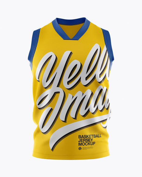 Download Sleeveless Jersey Mockup Yellowimages