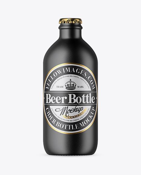Ceramic Beer Bottle Mockup