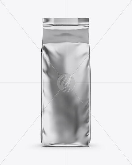 Download Glossy Metallic Coffee Bag Mockup Front View In Bag Sack Mockups On Yellow Images Object Mockups PSD Mockup Templates