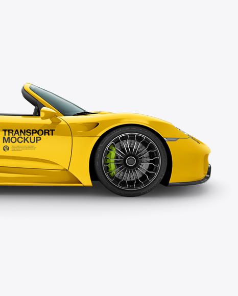 Download Porsche 918 Spyder Mockup - Side view Object Mockups
