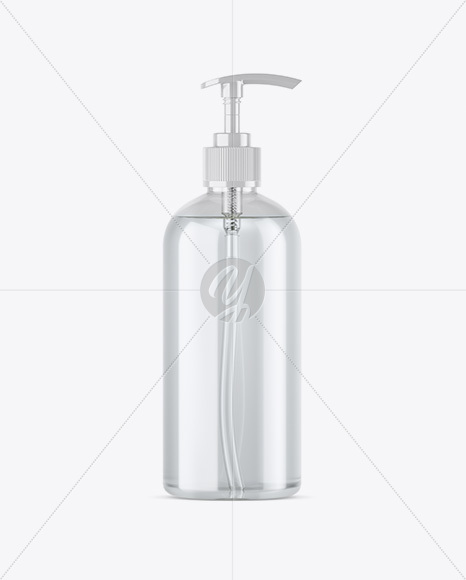 Download Plastic Cosmetic Bottle With Pump Mockup PSD - Free PSD Mockup Templates