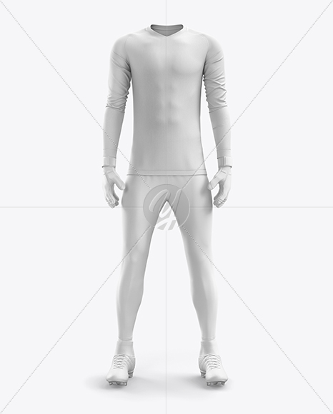 Men's Full Soccer Goalkeeper Kit with Pants mockup (Front View)