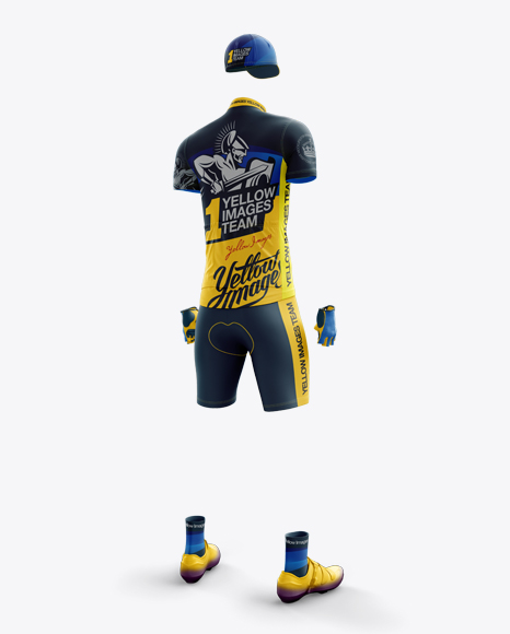 Men's Full Cycling Kit Mockup (Hero Back Shot)