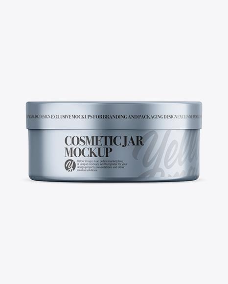 Download Metallic Cosmetic Jar Mockup - Front View Object Mockups