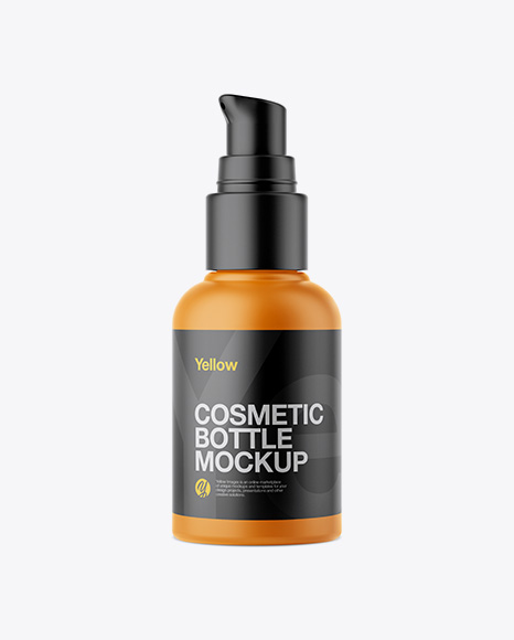 Download Free Matte Cosmetic Bottle With Pump Mockup PSD Template