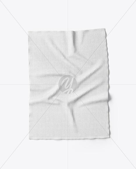 Download Waffle Towel Mockup - Top View Free Mockups