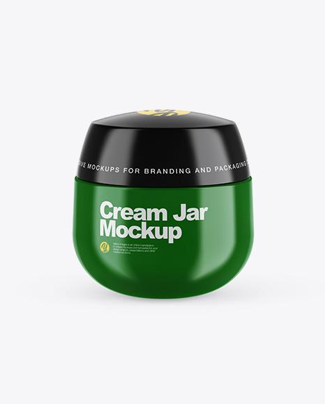 Glossy Cream Jar Mockup