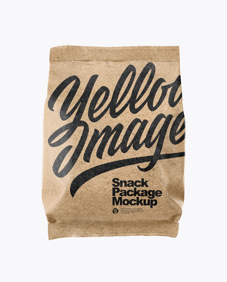 Download Free Kraft Paper Snack Package Mockup PSD Template