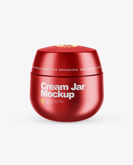 Matte Metallic Cream Jar Mockup