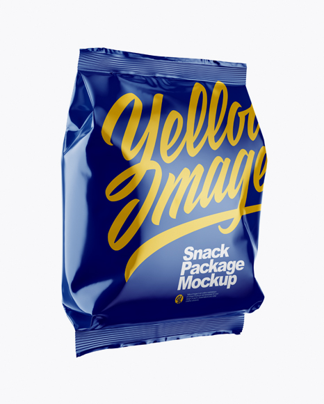 Download Glossy Snack Package Mockup - Half Side View Object Mockups