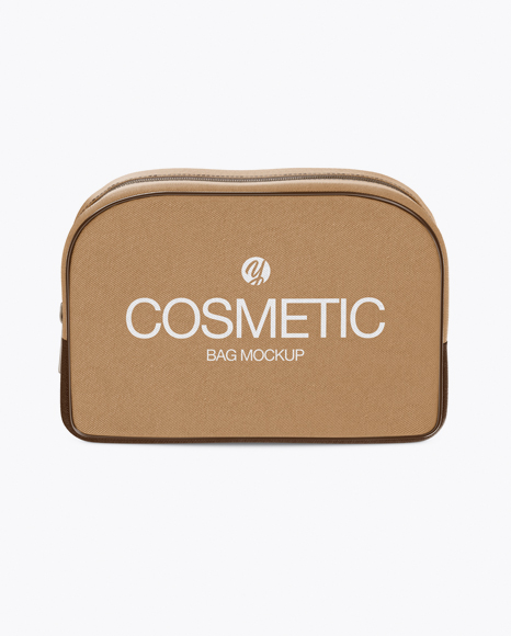 Download Cosmetic Bag - Front View Object Mockups