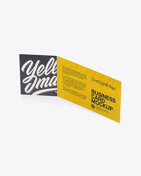 Download Business Card Mockup In Stationery Mockups On Yellow Images Object Mockups PSD Mockup Templates