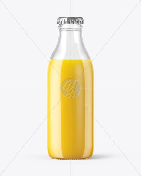 180ml Orange Juice Bottle Mockup