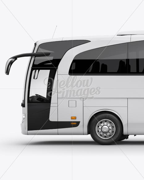 Mercedes-Benz Travego Mockup - Left Side View