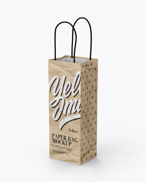 Download Kraft Paper Bag Mockup - Half Side View Object Mockups