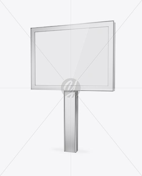 Metallic Street Board Mockup