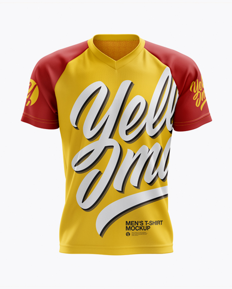 Men's MTB Trail Jersey mockup (Front View)