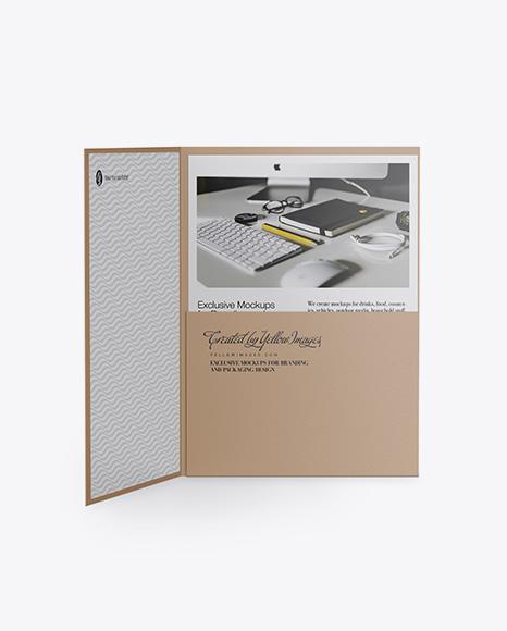 Opened Textured Folder
