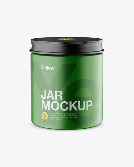 Download Matte Jar Mockup - High-Angle Shot Object Mockups