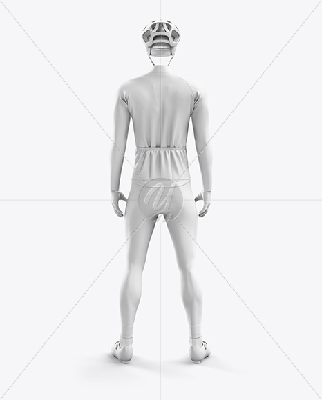Men's Full Cycling Thermal Kit mockup (Back View)