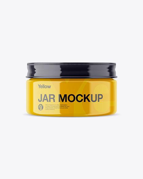 Download Glossy Jar Mockup Object Mockups