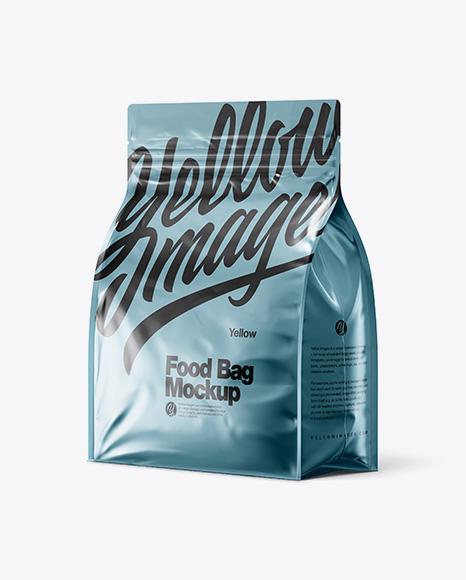 Download Metallic Food Bag Mockup - Halfside View Object Mockups
