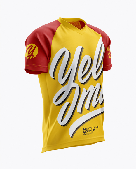 Men's MTB Trail Jersey mockup (Right Half Side View)