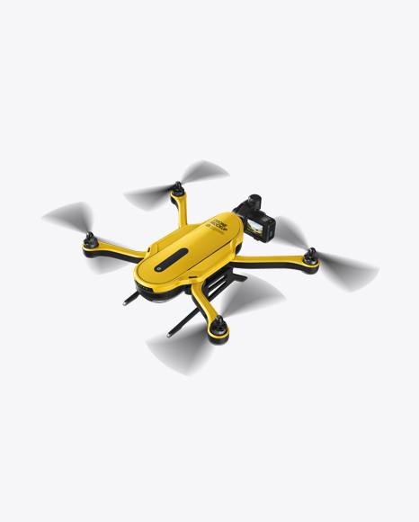 Download Free Drone Mockup - Half Side View (High-Angle Shot) PSD Template