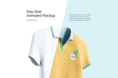 Download Polo Shirt Animated Mockup In Apparel Mockups On Yellow Images Creative Store Yellowimages Mockups