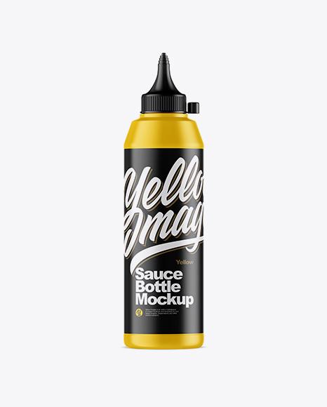 Download Matte Sauce Bottle Mockup Object Mockups