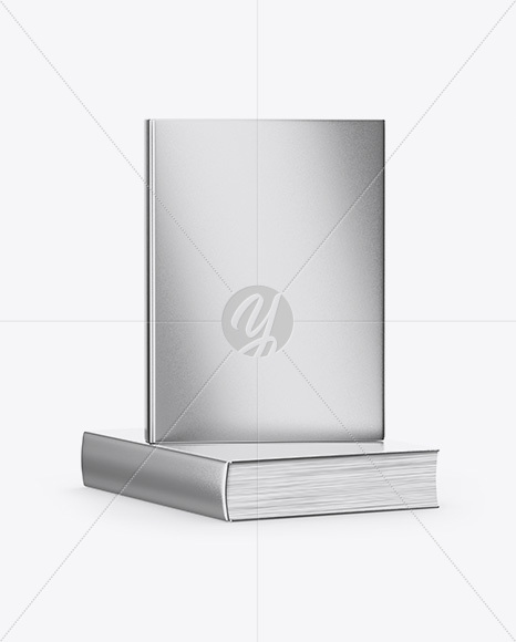 Download Metallic Covered Books Mockup In Stationery Mockups On Yellow Images Object Mockups PSD Mockup Templates