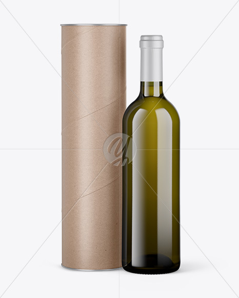 Antique Glass Wine Bottle and Tube Mockup
