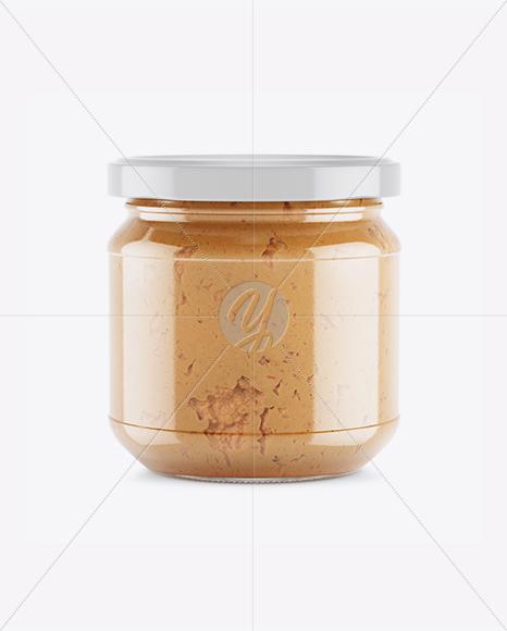 Glass Jar With Chilli Spread Mockup