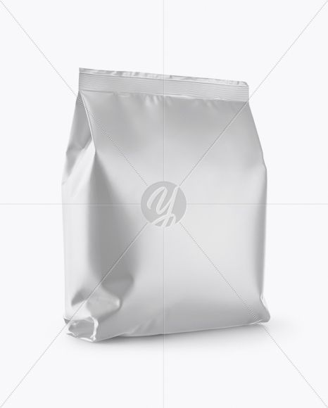 Matte Snack Package Mockup - Half Side View