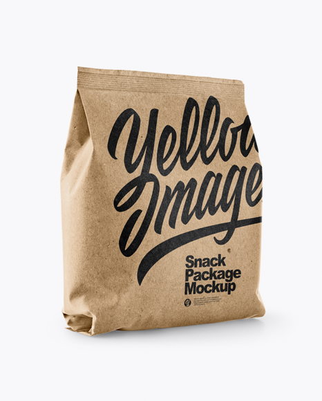 Download Kraft Snack Package Mockup - Half Side View Object Mockups