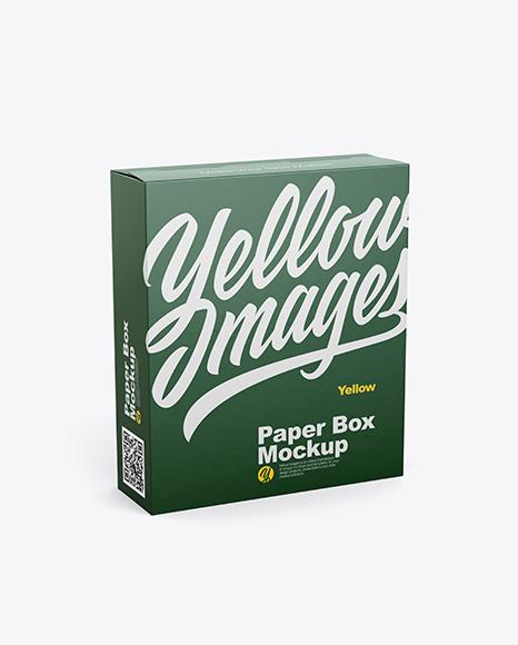 Download 16oz Box Mockup - Half SIde View (High Angle Shot) Object Mockups