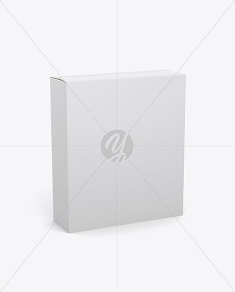 16oz Box Mockup - Half SIde View (High Angle Shot)