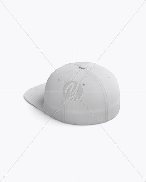 Flex Cap mockup (Back Half Side View)
