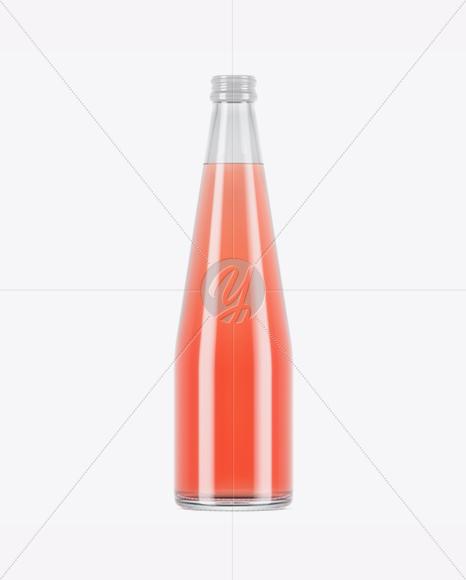 Clear Glass Pink Drink Bottle Mockup In Bottle Mockups On Yellow