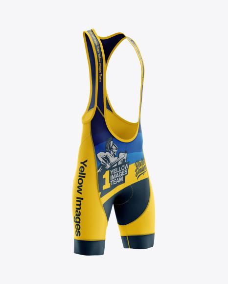 Men's Cycling Bib Shorts mockup (Right Half Side View)